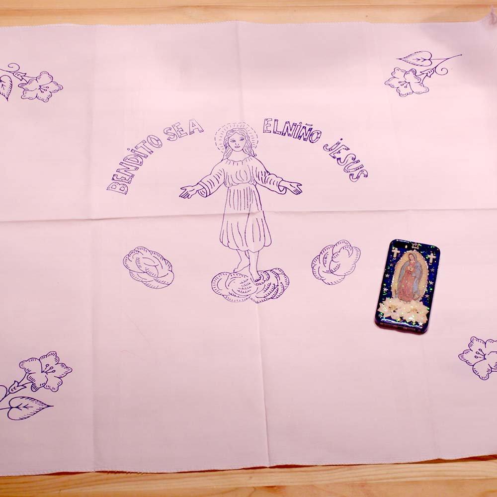 メキシコ☆刺繍用の布 洗うと消える下絵付き 大きいサイズ(70cm) D 手芸用品 ☆発送は→【スマートレター】【レターパックライト】【レターパックプラス】【宅急便】