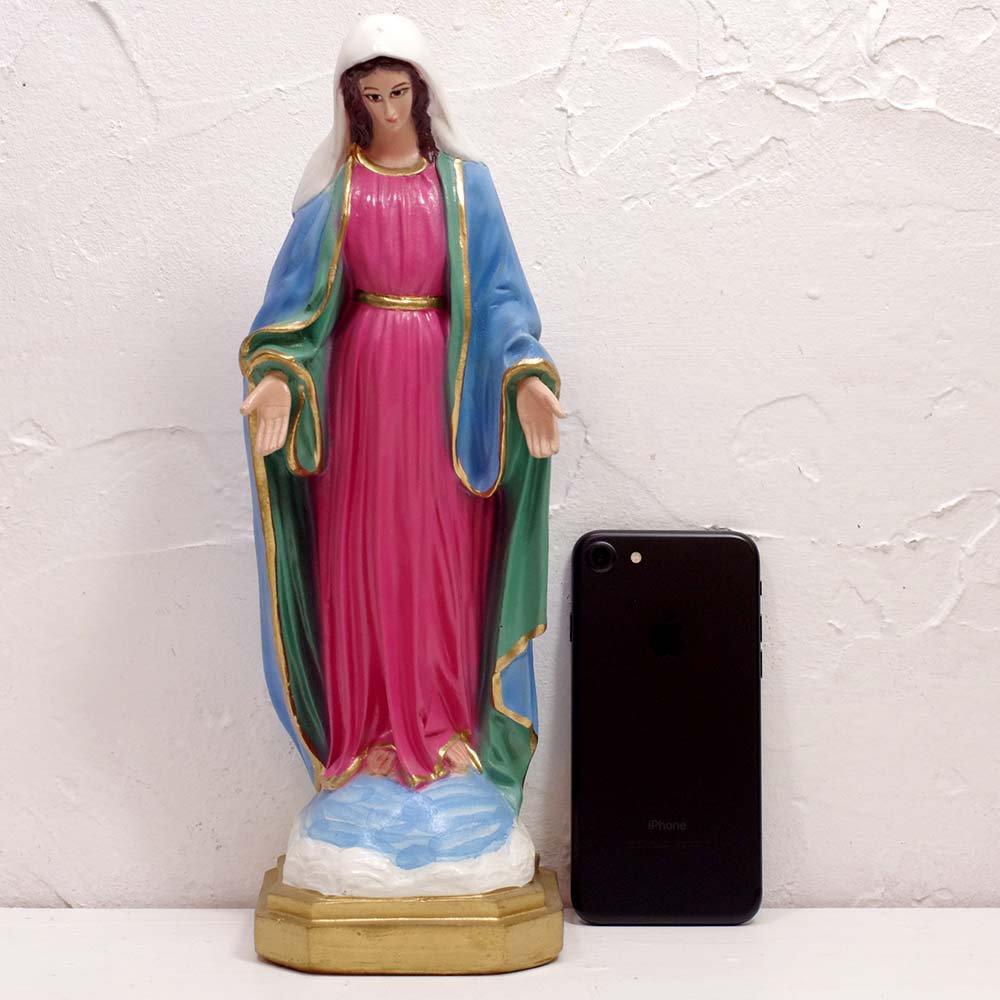 メキシコ☆教会で売られている 平和のマリア像 約30cm ☆発送は→【宅急便のみ】