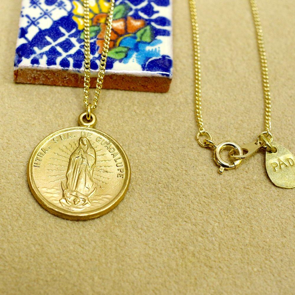 真鍮☆マリア様のコインメダイネックレス