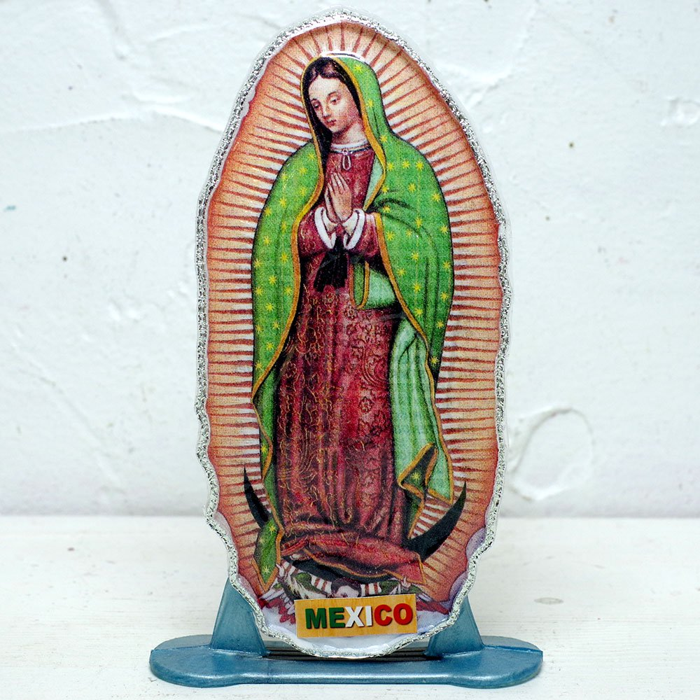 メキシコ☆教会で売っているマリアの飾り プレートお守り B ☆発送は→【レターパックプラス】【宅急便】