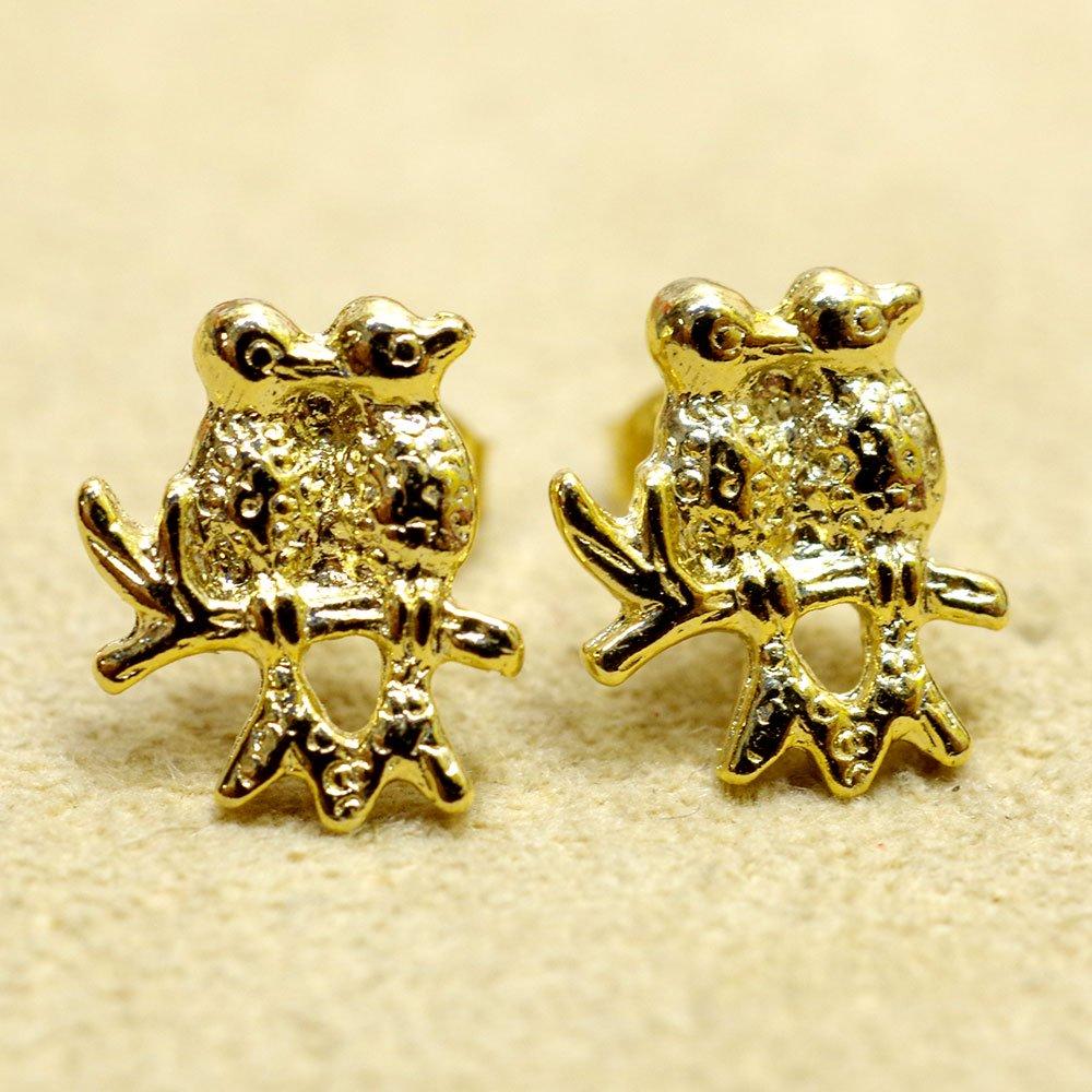 ゴールド☆ミニピアス 二羽の鳥