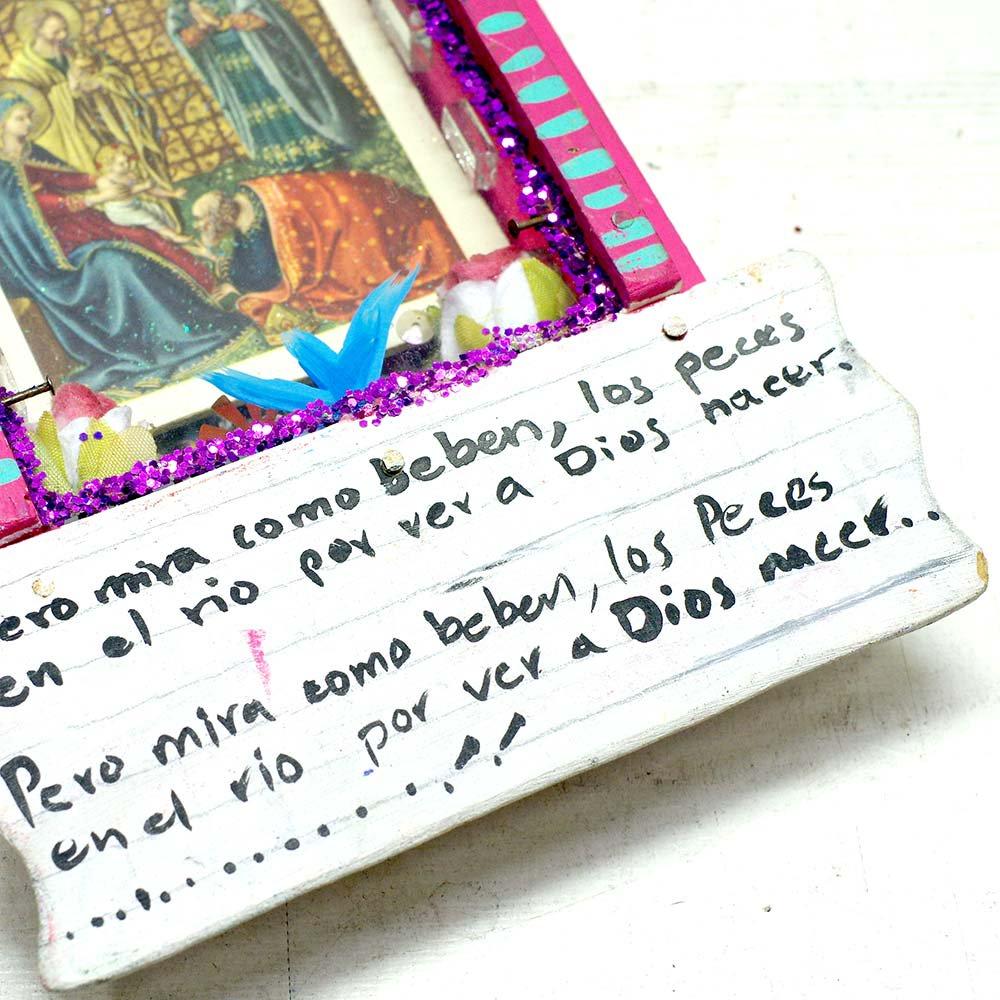 メキシコ☆micaさんのアート マリア様壁飾り MA☆発送は→【レターパックプラス】【宅急便】
