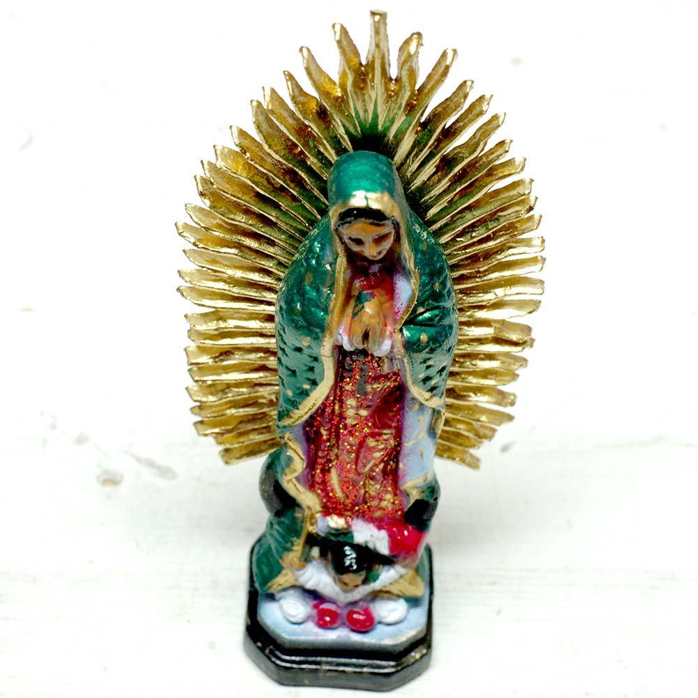 メキシコ☆教会で売っているプラスチックのマリア像 16cm ☆発送は→【レターパックプラス】【宅急便】