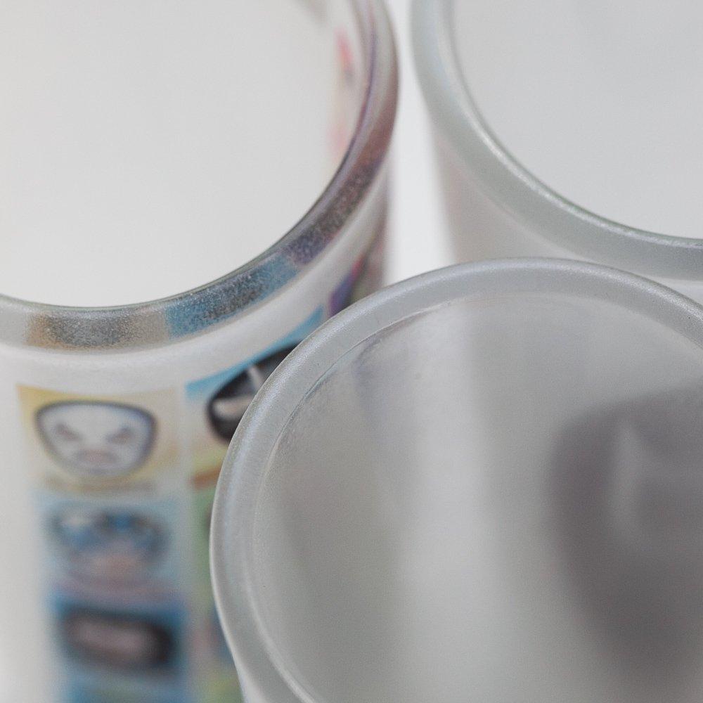 メキシコ☆磨りガラス ルチャテキーラグラス / ショットグラスA☆発送は→【レターパックプラス】【宅急便】
