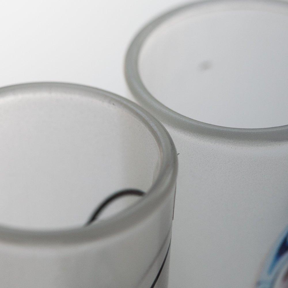 メキシコ☆磨りガラス ルチャテキーラグラス / ショットグラスB☆発送は→【レターパックプラス】【宅急便】