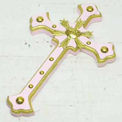 Diabla☆細クロス 十字架 30cm C(Lt.PINK) ☆発送は→【レターパックライト】【レターパックプラス】【宅急便】