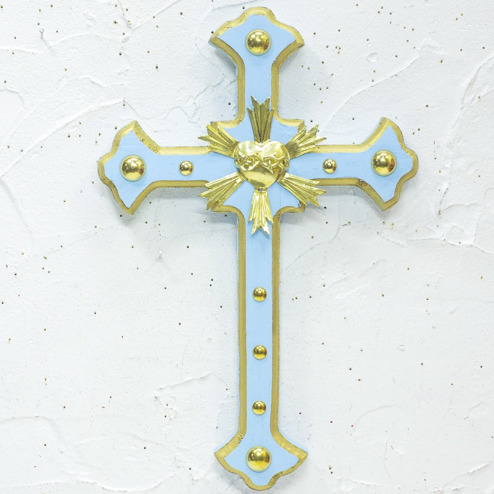 Diabla☆細クロス 十字架 30cm G(Lt.BLUE) ☆発送は→【レターパックライト】【レターパックプラス】【宅急便】