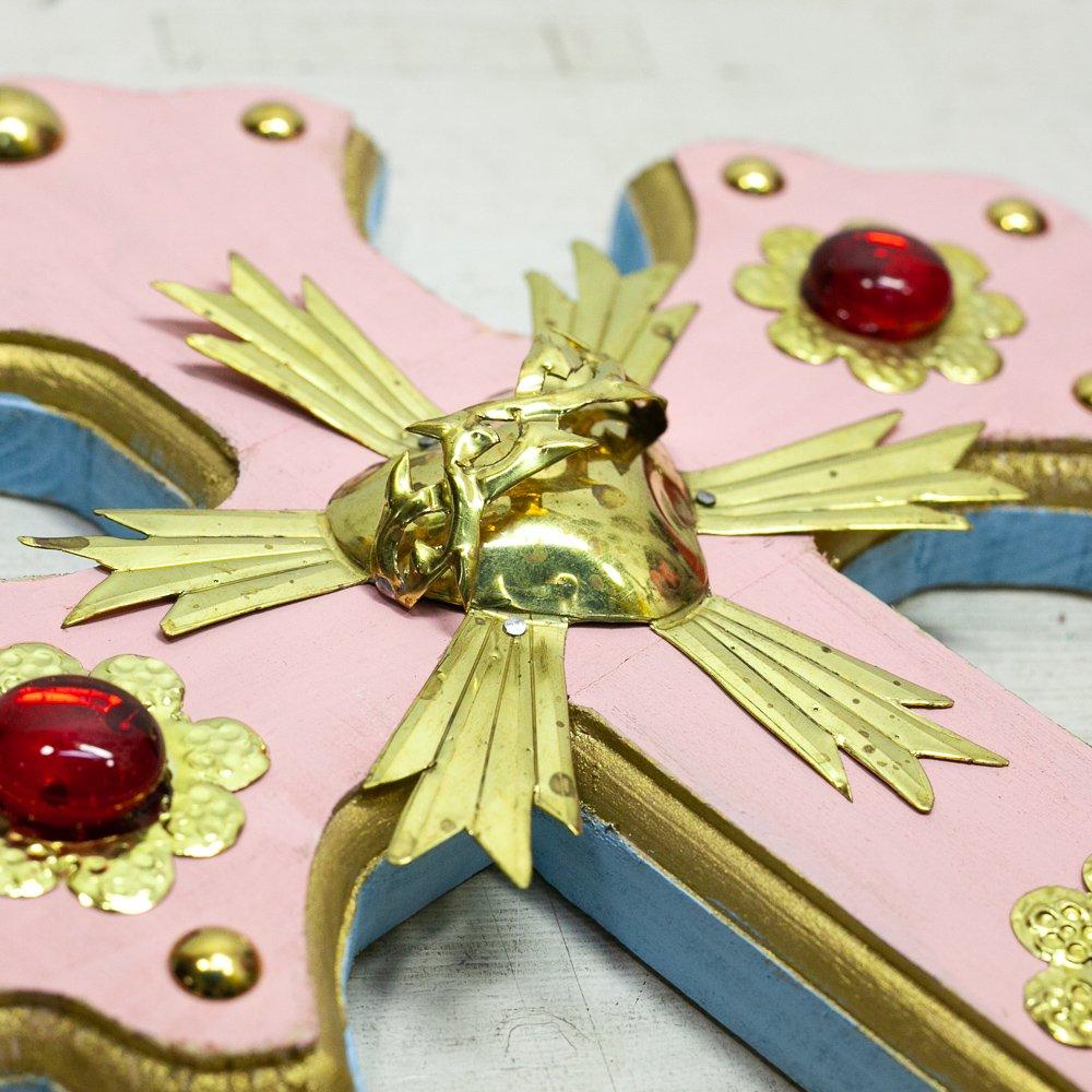 Diabla☆パステルクロス後光コラソン(30cm)(PINK) ☆発送は→【レターパックプラス】【宅急便】