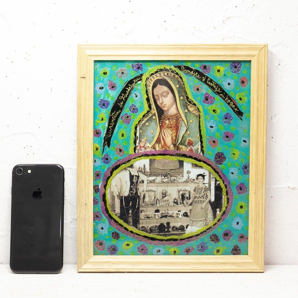 メキシコ☆マヌエルさんのアート フリーダ・カーロ(LサイズH約28cm) J☆発送は→【宅急便のみ】
