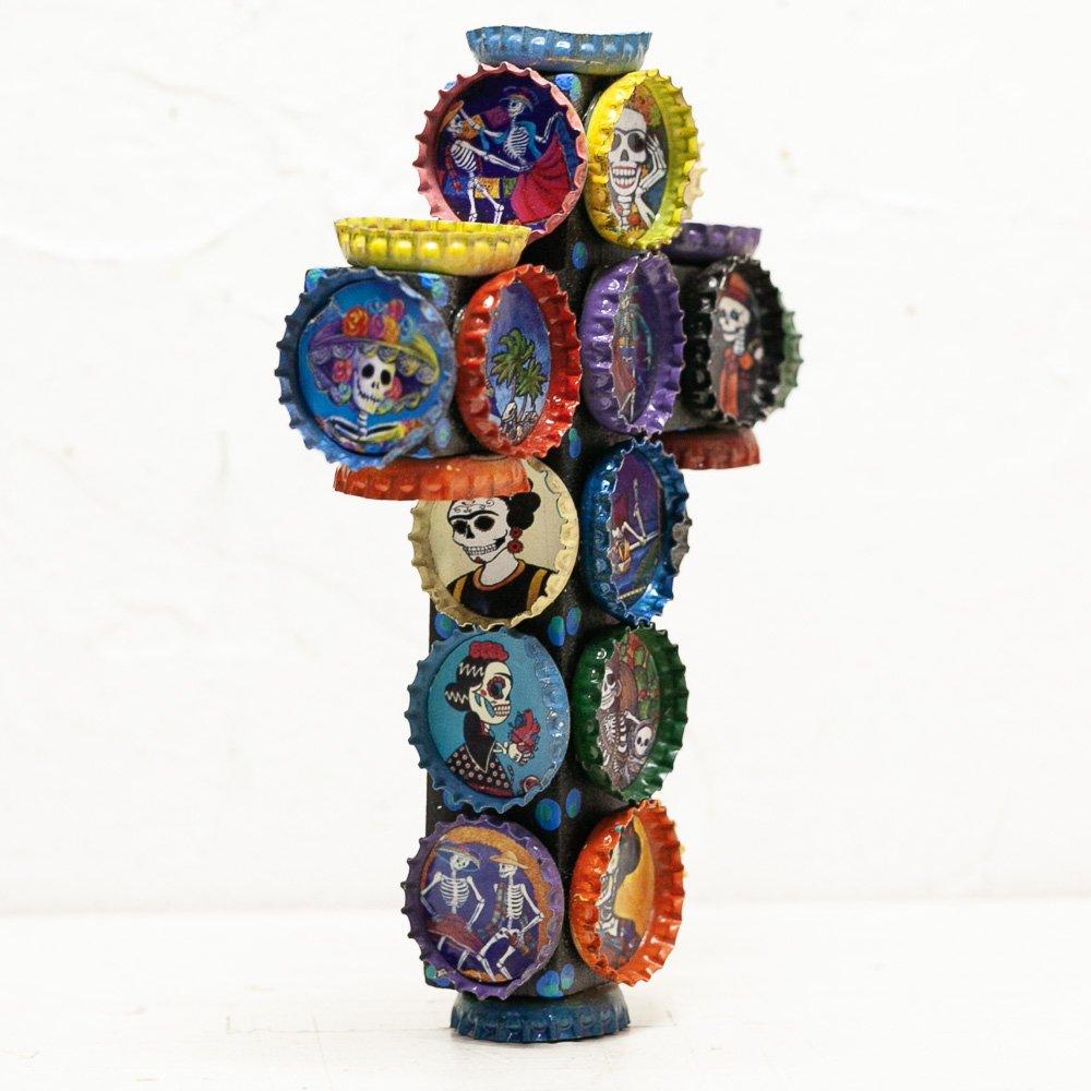 メキシコ☆王冠アートクロス壁掛けMサイズ(H16cm)☆発送は→【レターパックプラス】【宅急便】
