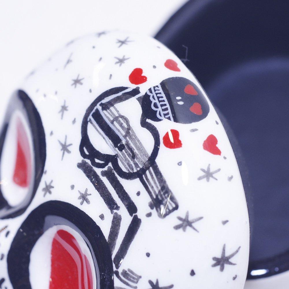 メキシカンスカル☆陶器のガイコツ小物入れ カオ(Mサイズ)☆発送は→【レターパックプラス】【宅急便】