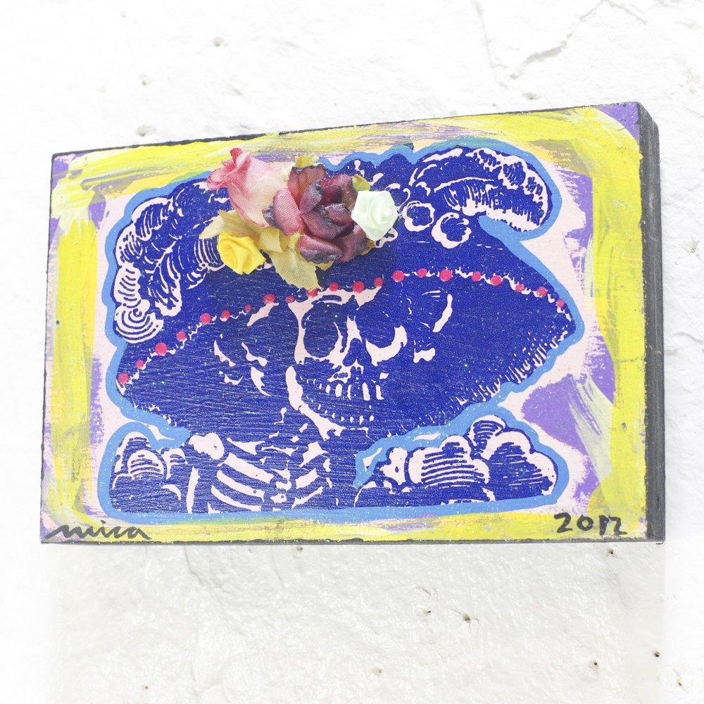 <img class='new_mark_img1' src='https://img.shop-pro.jp/img/new/icons13.gif' style='border:none;display:inline;margin:0px;padding:0px;width:auto;' />メキシコ☆micaさんのアート カトリーナ壁飾り(H10cm)A☆発送は→【レターパックプラス】【宅急便】