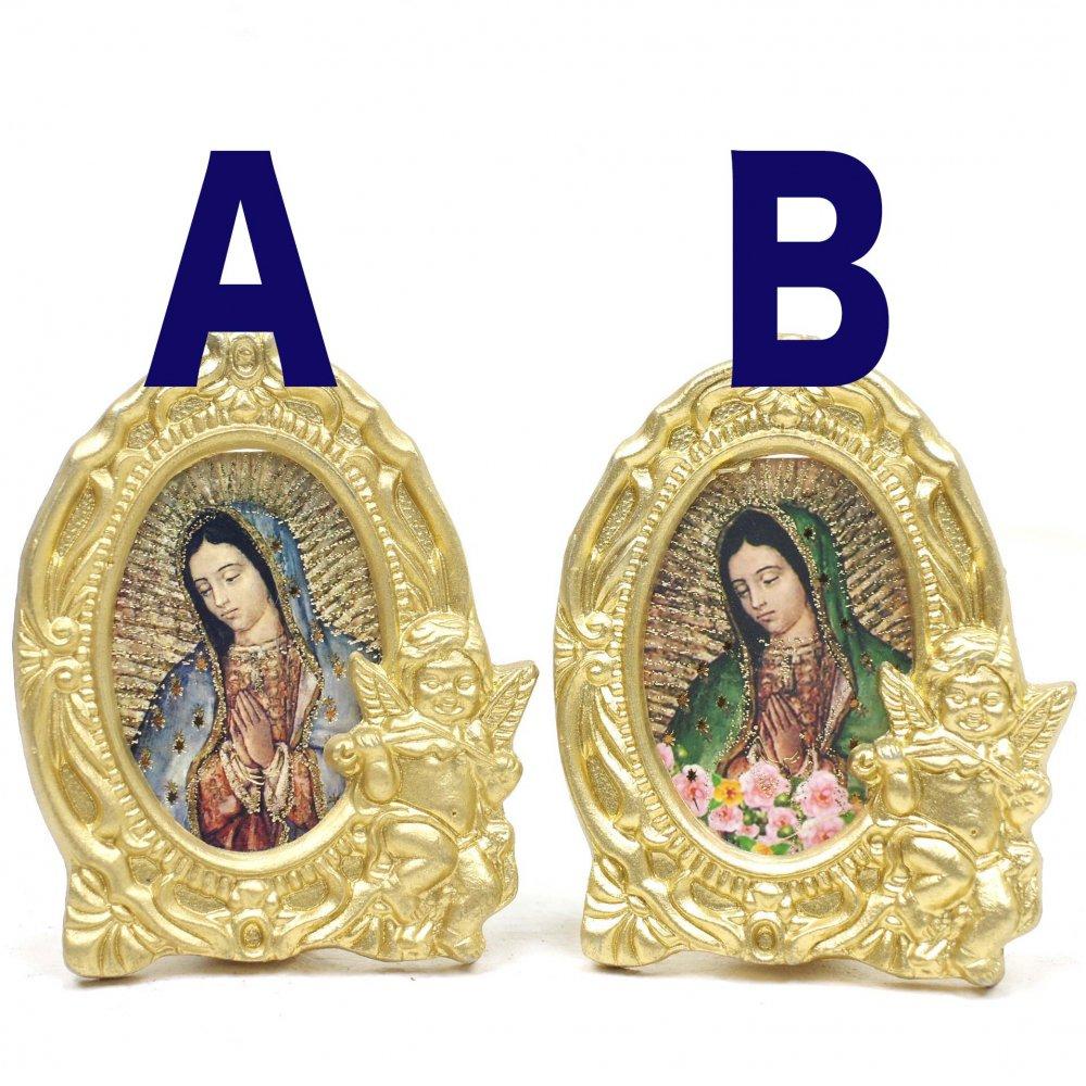 <img class='new_mark_img1' src='https://img.shop-pro.jp/img/new/icons13.gif' style='border:none;display:inline;margin:0px;padding:0px;width:auto;' />メキシコ☆天使ゴールド額のマリア様◆ミニ◆