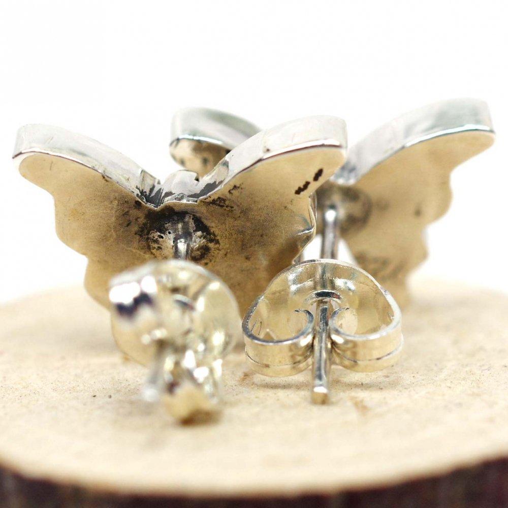 silver925☆シンプル蝶々ピアス