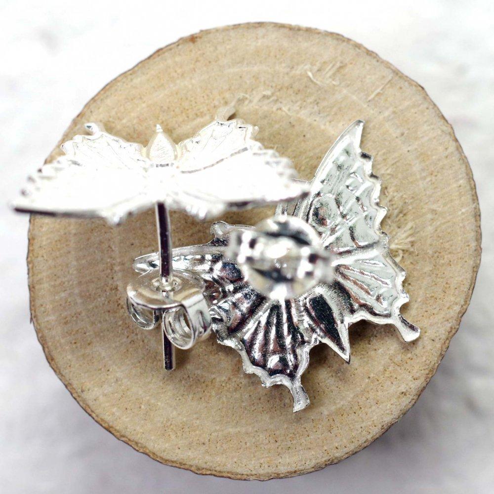 silver925☆リアル蝶々ピアス