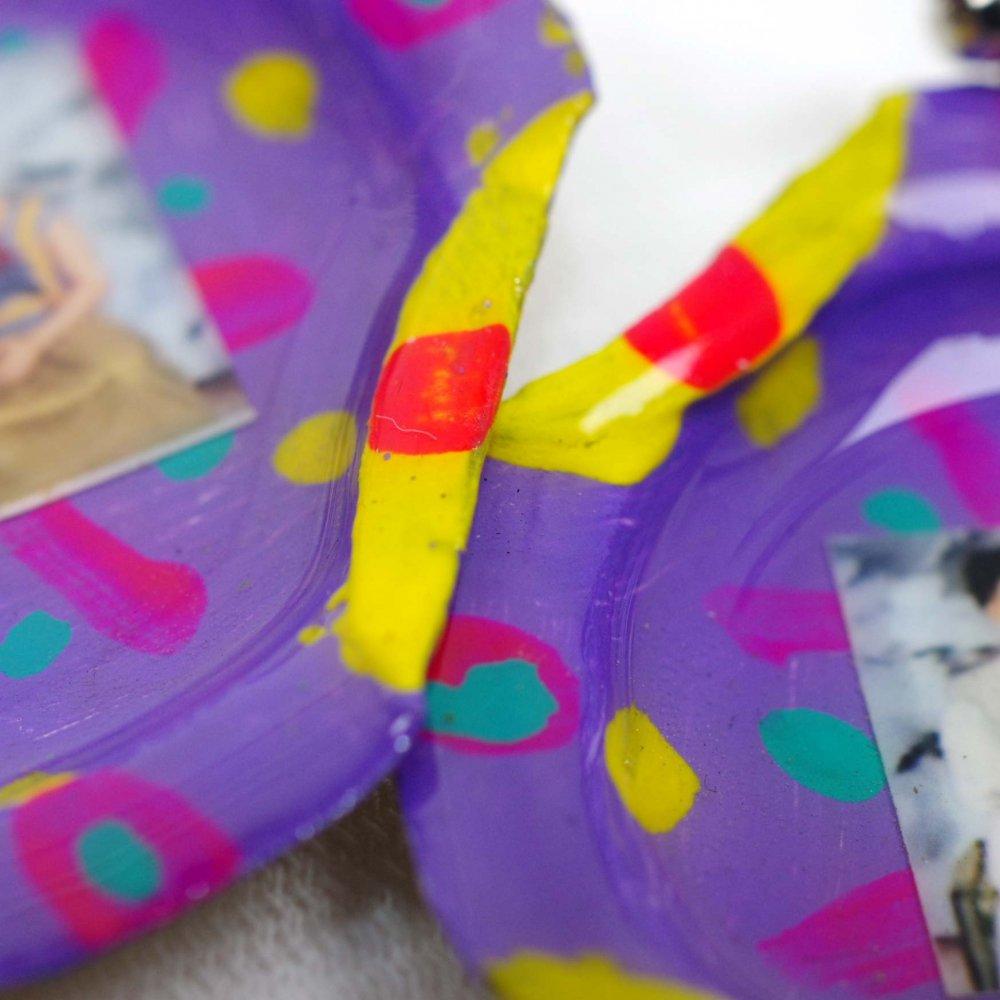 瓶のフタ☆王冠アートピアス【FRIDA】◆イヤリング変更可◆B