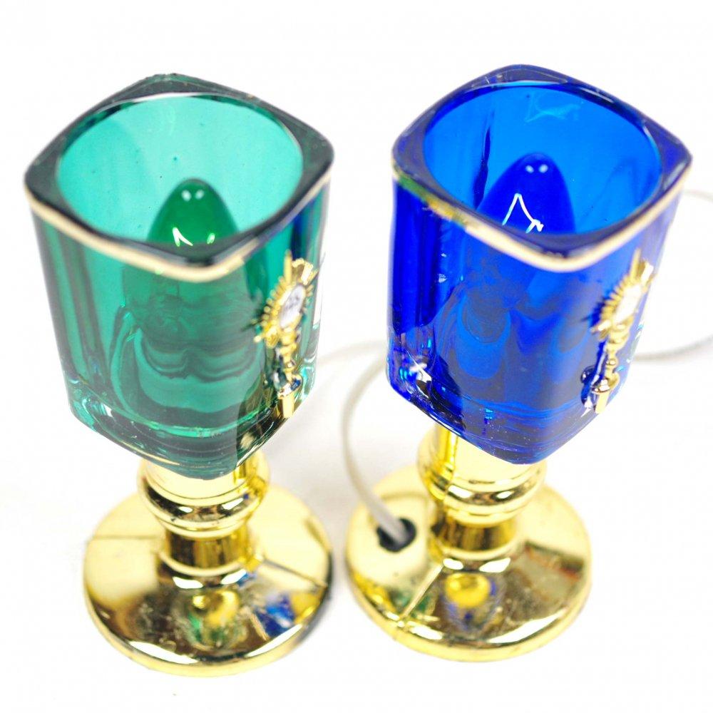 メキシコ☆JHSパーツ付き教会グラスランプ