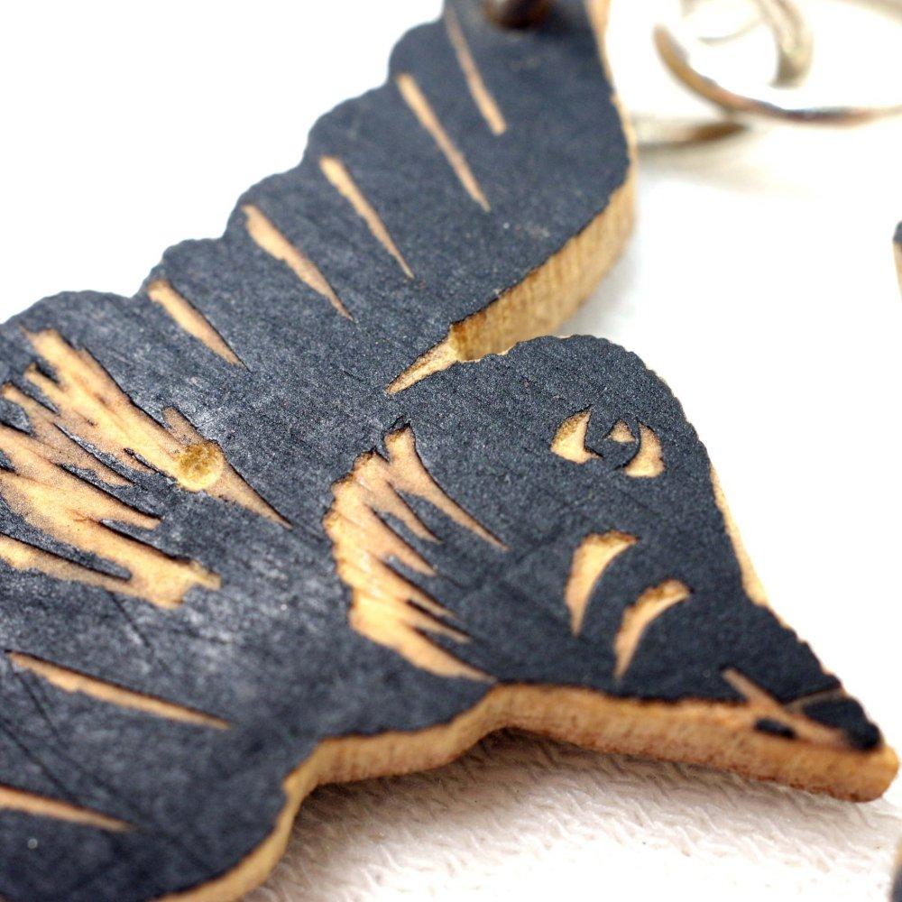 木の実☆手彫りピアス【中】◆イヤリング変更可◆ A