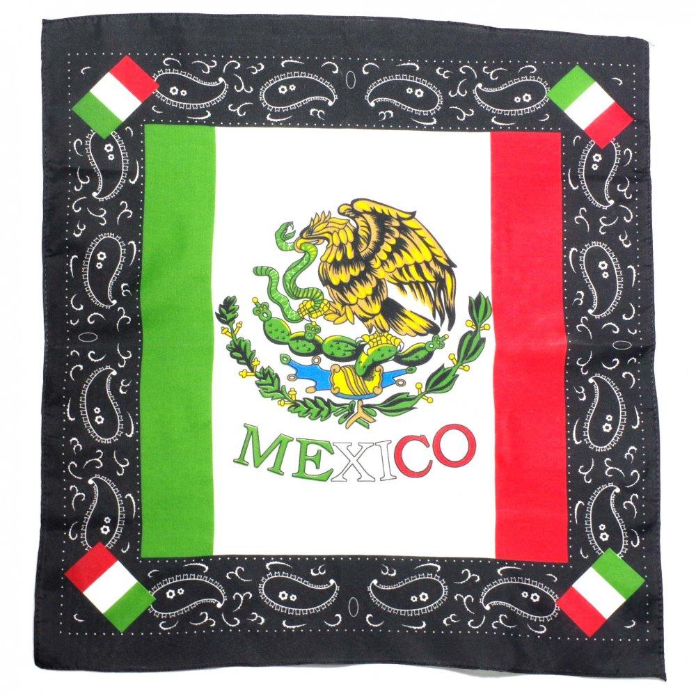 メキシコ国旗とペイズリー☆バンダナ