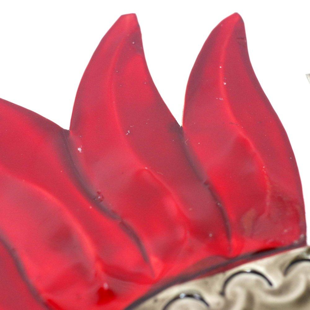 ブリキ☆ミラー付きハート壁飾り【Lサイズ】 C