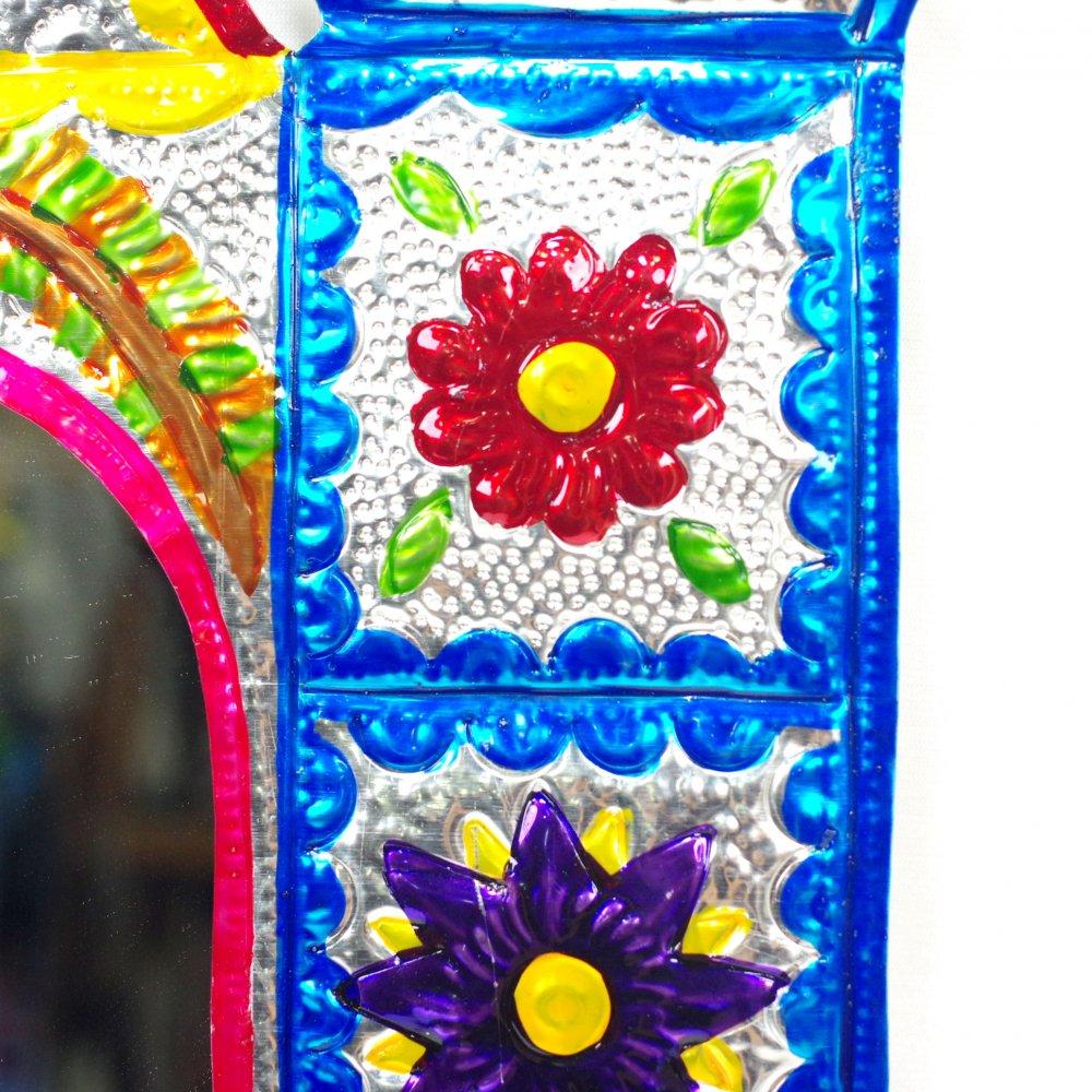ブリキ☆ミラー付き 教会の壁飾り【36cm】 A