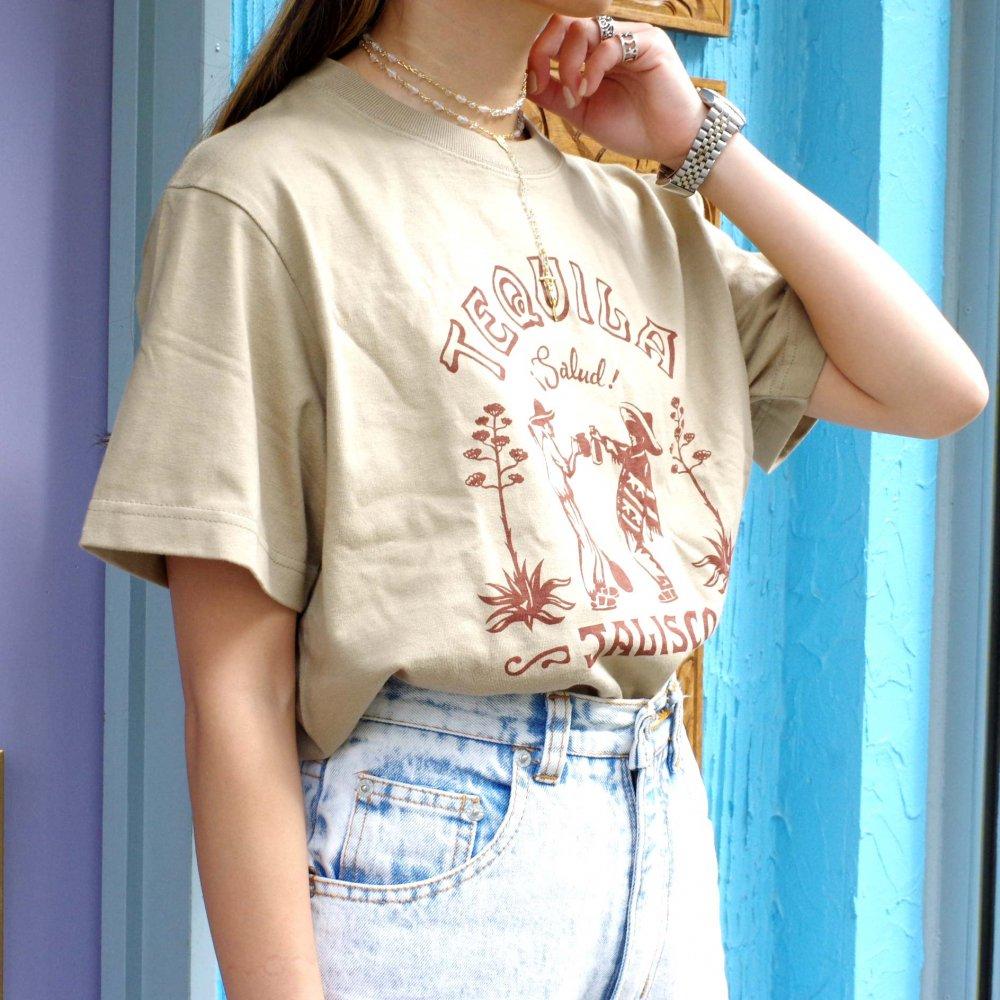 ■FRENZY WORKS■TEQUILA T-shirts【SAND KHAKI】