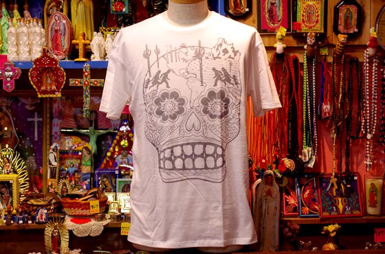 <img class='new_mark_img1' src='//img.shop-pro.jp/img/new/icons13.gif' style='border:none;display:inline;margin:0px;padding:0px;width:auto;' />メンズ■XICO■CALAVERA Tシャツ【GRAY】☆発送は→【レターパックライト】【レターパックプラス】【宅急便】