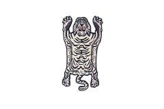 チベタンタイガーラグ ホワイト