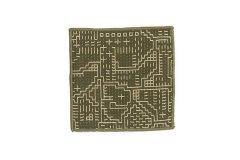 刺子織 コースター グリーン
