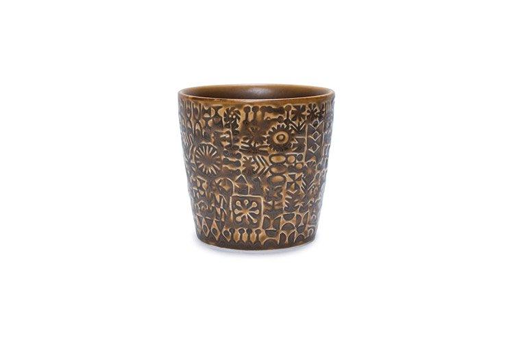 パターンカップ スモークブラウン
