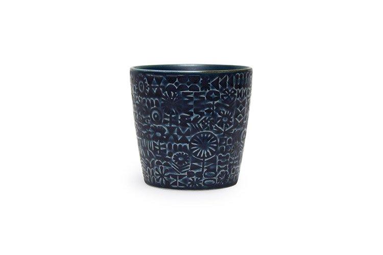 パターンカップ コバルトブルー