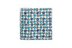 スカーフ シックスフラワー ブルー