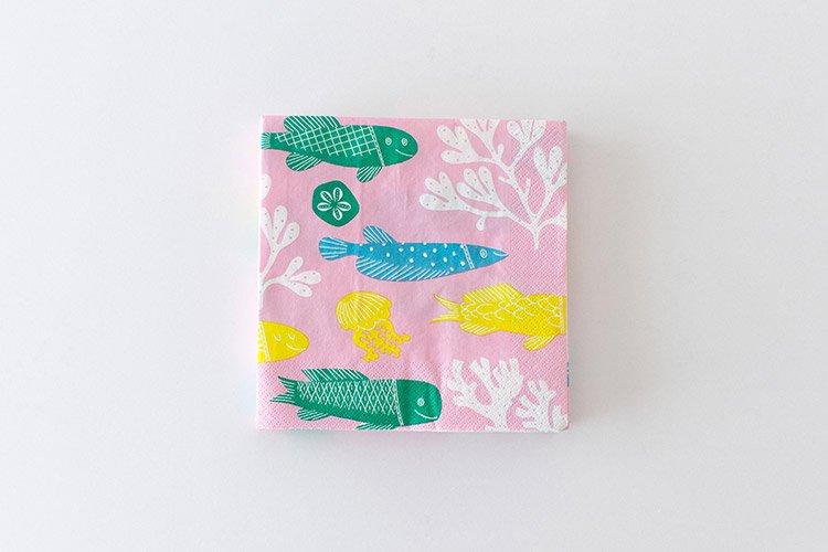 鹿児島睦 図案ペーパーナプキン ピンク