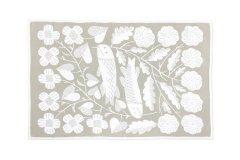 鹿児島睦 KALA コットンブランケット M white-beige
