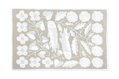 鹿児島睦 KALA コットンブランケット L white-beige