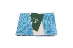 刺子織 カードケース ブルー