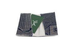 刺子織 カードケース ネイビー