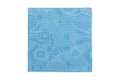 刺子織 ハンカチ ブルー