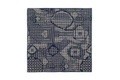 刺子織 ハンカチ ネイビー
