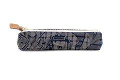 刺子織 ペンケース ネイビー