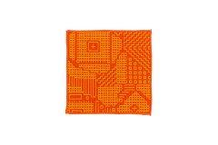 刺子織 コースター レッド