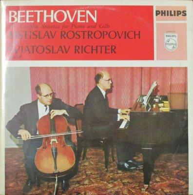 M. ロストロポーヴィチ 〜 S. リヒテル   ベートーヴェン 5つのチェロ・ソナタ (2枚組)