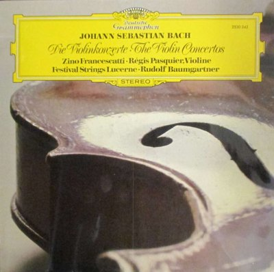 Z. フランチェスカッティ / R. パスキエ / R. バウムガルトナー 〜 F.S.L.  バッハ ヴァイオリン協奏曲 第1番 & 第2番 / 2つのヴァイオリンのための協奏曲