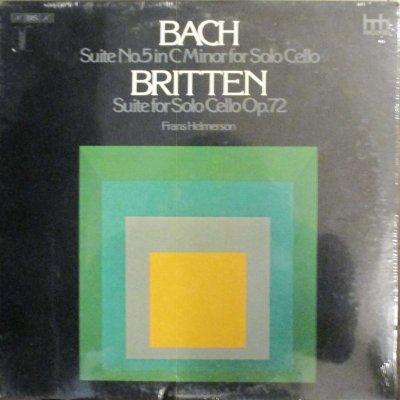 フランス・ヘルマーソン  バッハ 無伴奏チェロ組曲 第5番 ハ短調 / ブリテン 無伴奏チェロ組曲 第1番 (未使用シールド)