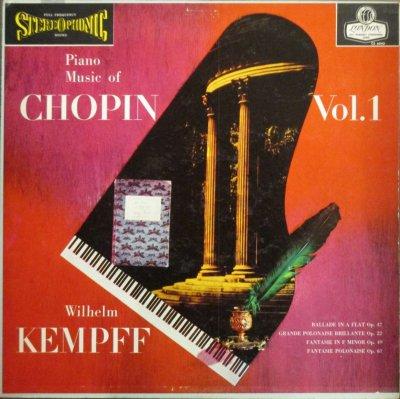 ウィルヘルム・ケンプ   ショパン ピアノ小品集 VOL.1 〜 バラード 第3番 / 幻想ポロネーズ 他