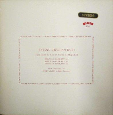 ポール・トルトゥリエ 〜 R. V. ラクロワ   バッハ チェロ・ソナタ(ヴィオラ・ダ・ガンバ) BWV 1030 - 1032