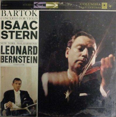 I. スターン / L. バーンスタイン 〜 ニューヨーク・フィル   バルトーク ヴァイオリン協奏曲
