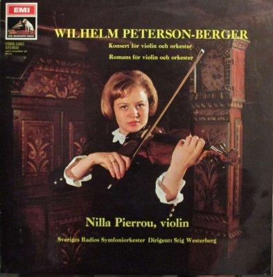 ニルラ・ピエル / S. ヴェステルベリ 〜 スウェーデン放送 SO.   W. ペッテション=ベリエル ヴァイオリン協奏曲 / ロマンス