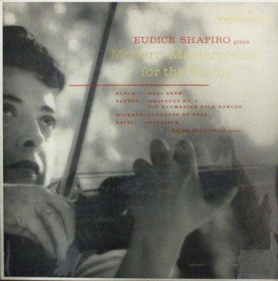 ユーディス・シャピロ 〜 ラルフ・バーコヴィッツ   モダーン・ヴァイオリン小品集 〜 ブロッホ バールシェム / バルトーク 狂詩曲 第2番 他