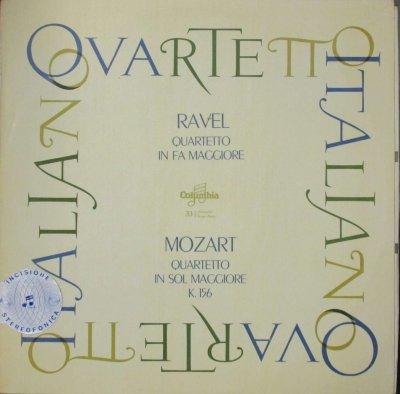 イタリア四重奏団   ラヴェル 弦楽四重奏曲 ヘ長調 / モーツァルト 弦楽四重奏曲 第3番 ト長調